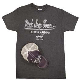 PRAIRIE MOUNTAIN HAT & TEE COMBO CHARCOAL