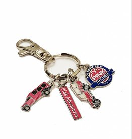 THE PIN CENTER CHARM KEYCHAIN