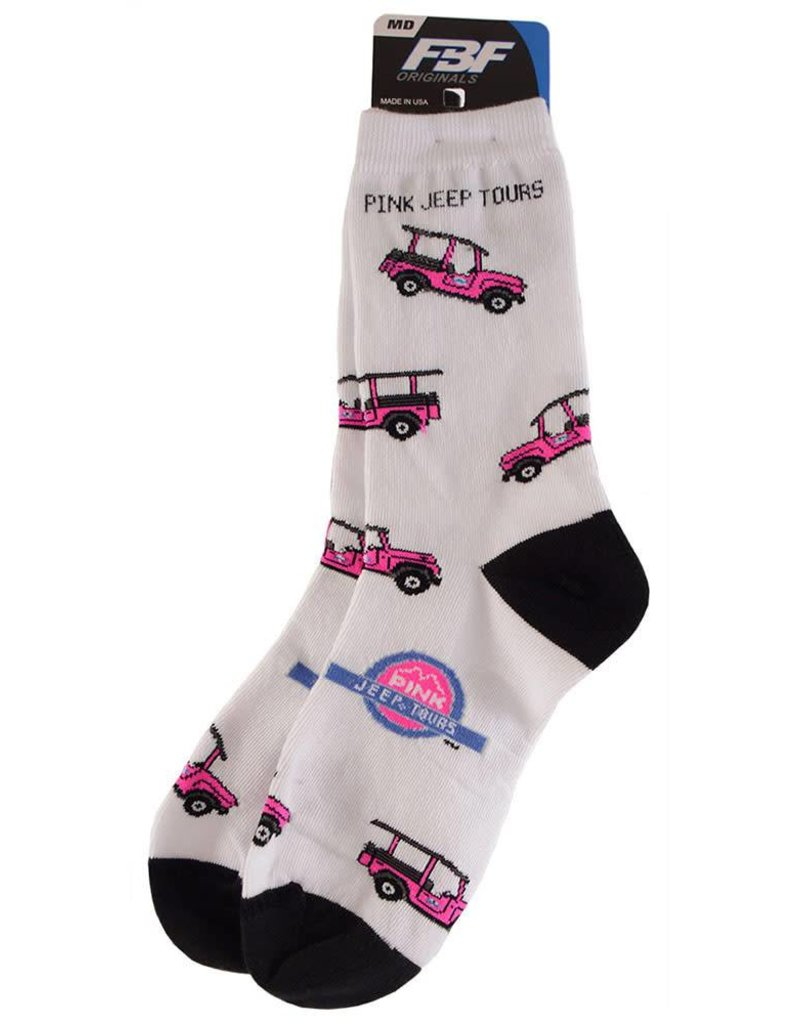 FOR BARE FEET ADULT SOCKS CREW WHITE/BLACK TOE