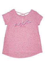 OURAY SPORTSWEAR CRISS CROSS TEE BRIGHT ROSE