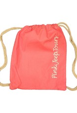 ACE USA CANVAS CINCH SACK FLAMINGO