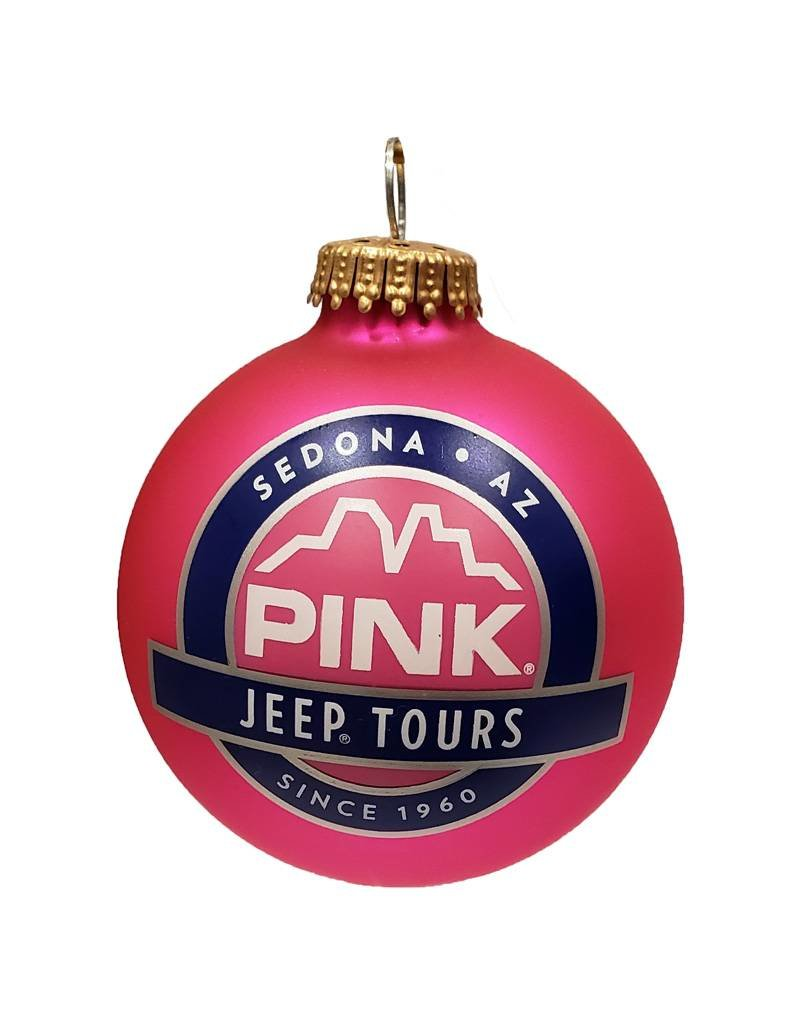 Jeep Christmas Ornament.Art For The Young At Heart Sedona Christmas Ornament Pink