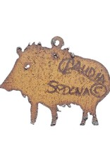 RED HILLS GALLERY LIL TROUBLE JAVELINA ORNAMENT