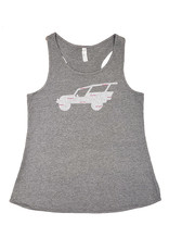 PRAIRIE MOUNTAIN LADIES RACERBACK TANK GRAPHITE
