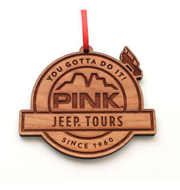 NESTLED PINES WOODWORKING WOOD ORNAMENT LOGO