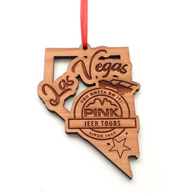NESTLED PINES WOODWORKING WOOD ORNAMENT NEVADA OUTLINE