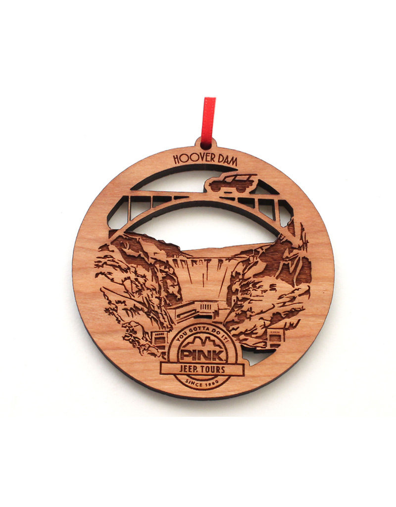 NESTLED PINES WOODWORKING WOOD ORNAMENT HOOVER DAM