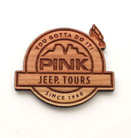NESTLED PINES WOODWORKING WOOD MAGNET LOGO