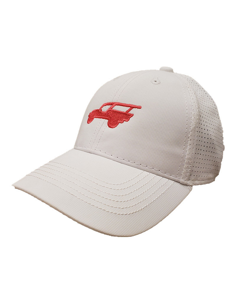 OURAY SPORTSWEAR COOL BREEZE JEEP HAT WHITE