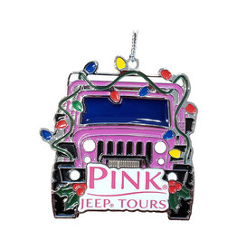 PINNACLE DESIGNS STAINED GLASS JEEP ORNAMENT