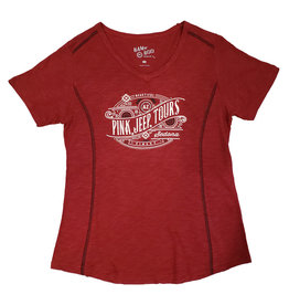 EMI SPORTSWEAR LADIES BAMBOO SLUB V-NECK RED