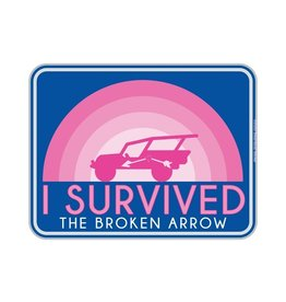 STEAMBOAT STICKERS I SURVIVED BROKEN ARROW - RAINBOW