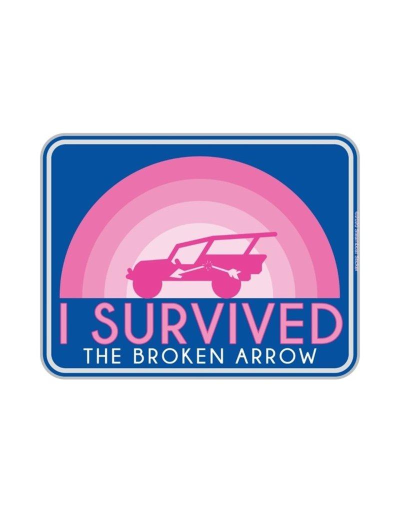STEAMBOAT STICKERS I SURVIVED BROKEN ARROW - RAINBOW