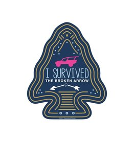 STEAMBOAT STICKERS I SURVIVED BROKEN ARROW - ARROWHEAD