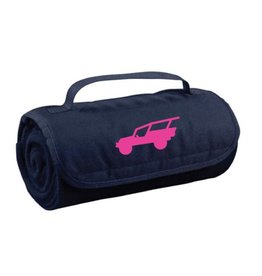 QUALITY LOGO PRODUCTS FLEECE BLANKET NAVY