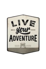 OPEN ROAD BRANDS LIVE YOUR ADVENTURE EMBOSSED TIN SIGN