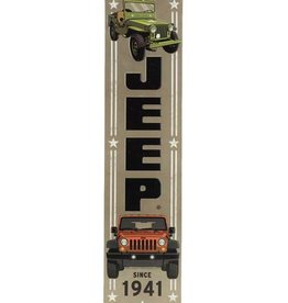 OPEN ROAD BRANDS JEEP VERTICAL EMBOSSED TIN SIGN