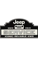 OPEN ROAD BRANDS JEEP 1941 SERVICE EMBOSSED TIN SIGN