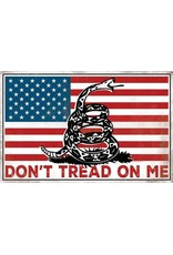OPEN ROAD BRANDS DONT TREAD ON ME EMBOSSED TIN SIGN