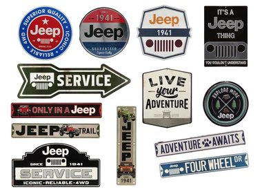 EMBOSSED TIN SIGNS