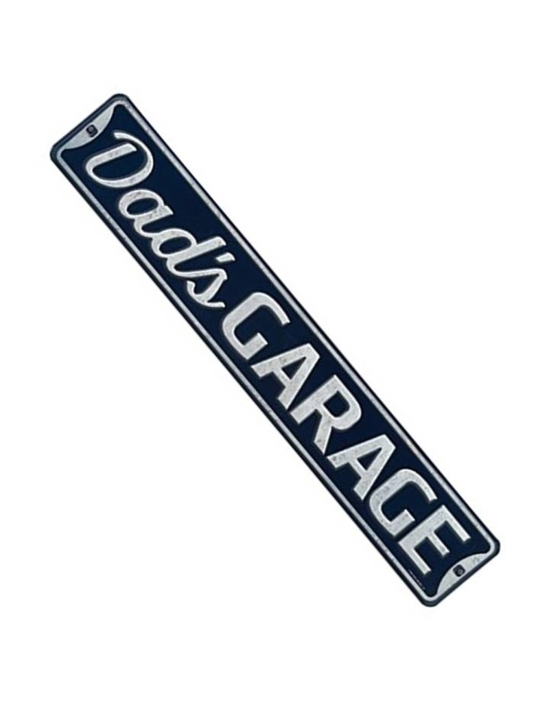 OPEN ROAD BRANDS DADS GARAGE CLASSIC EMBOSSED TIN SIGN
