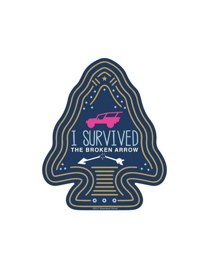 STEAMBOAT STICKERS I SURVIVED BROKEN ARROW - ARROWHEAD