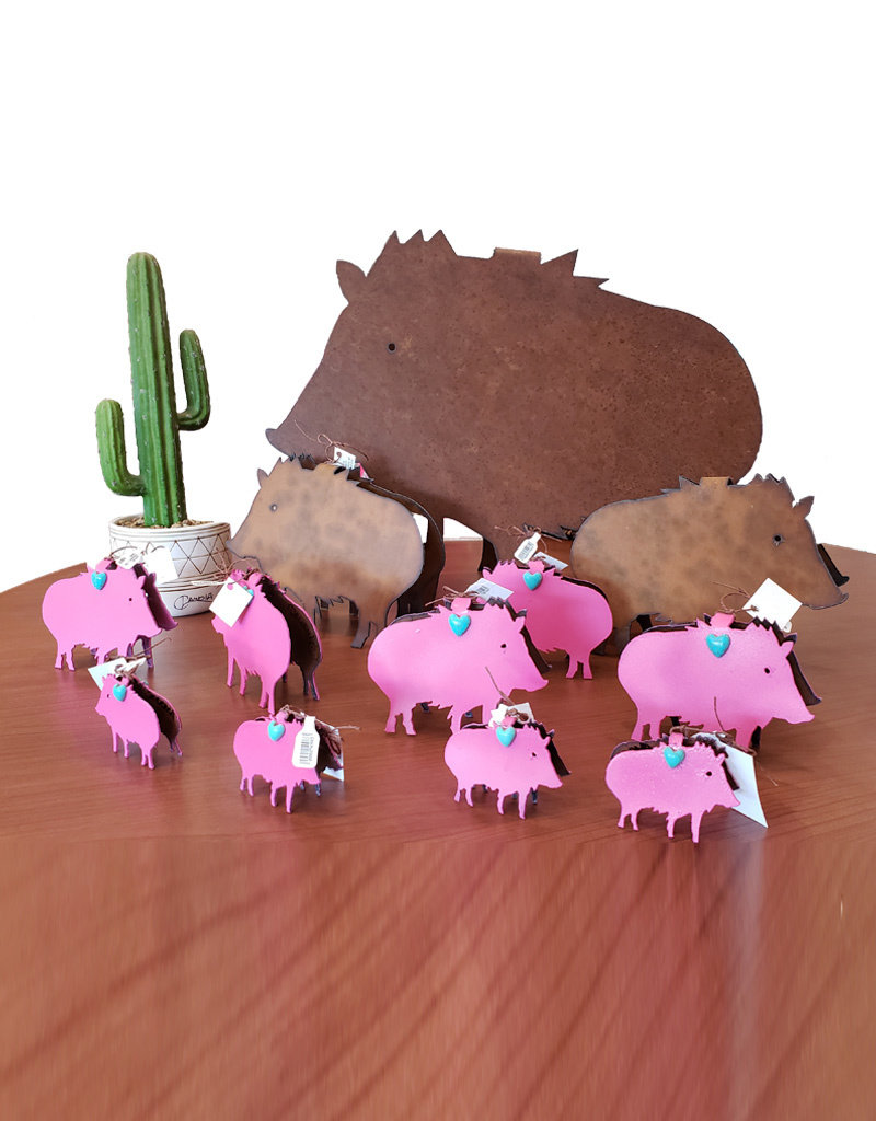 RED HILLS GALLERY DOUBLE TROUBLE JAVELINA ORNAMENT