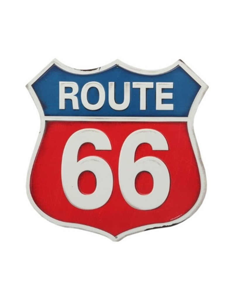 OPEN ROAD BRANDS ROUTE 66 COLOR TIN SIGN