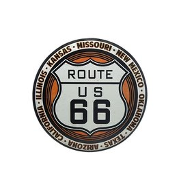 OPEN ROAD BRANDS ROUTE 66 TIN BUTTON