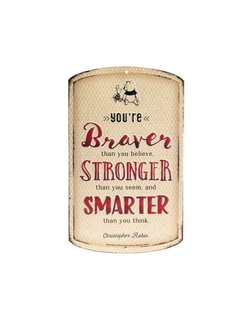 OPEN ROAD BRANDS WINNIE THE POOH BRAVER TIN SIGN