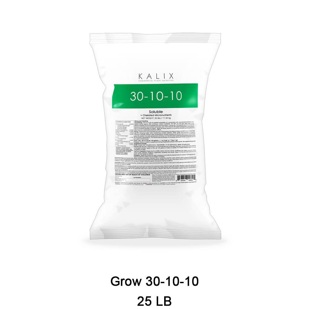 Grow 30-10-10 + Chelated Micronutrients 25 lb