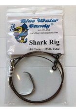 Blue Water Candy BWC 00133-6 Shark Rig 275 lb Cable 10/0 Circle Hook