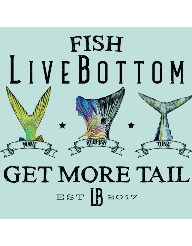 Live Bottom LB Men's Performance Shirt Get More Tail- Pastel Foam