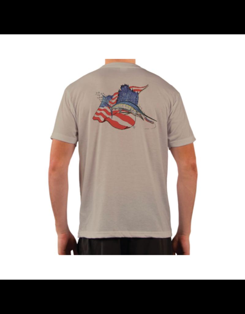 Live Bottom LB Sailfish Flag SS Performance T-shirt