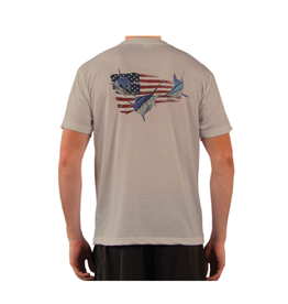 Live Bottom LB Big 3 Flag SS Performance T-shirt