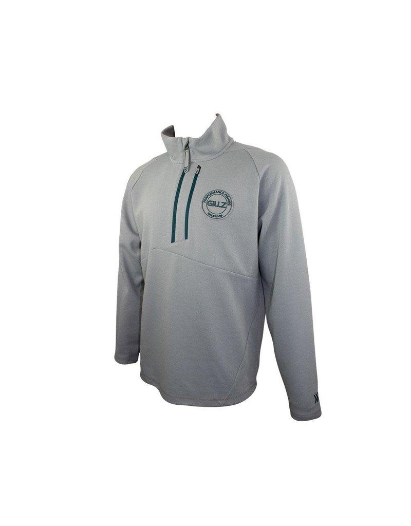 Gillz Gillz Men's Contender Fleece Quarter Zip High Rise Grey