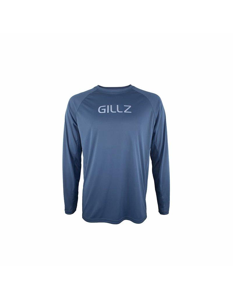 Gillz Gillz Men's LS UV TS Blue Wing Teal
