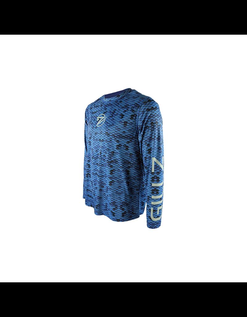 Gillz Gillz Men`s LS Extreme Scales AOP Snorkel Blue