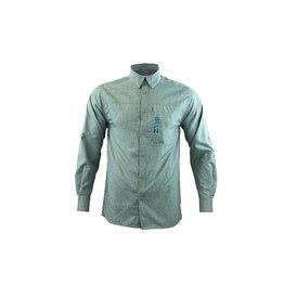 Gillz Gillz Men's LS Captain Woven Shirt Goblin Blue