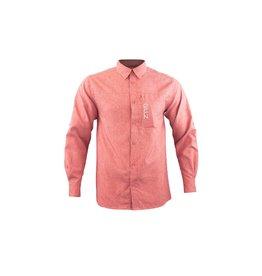 Gillz Gillz Men's LS Captain Woven Shirt American Beauty