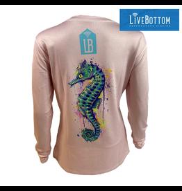 Live Bottom LiveBottom Seahorse Women's Swivel V-neck