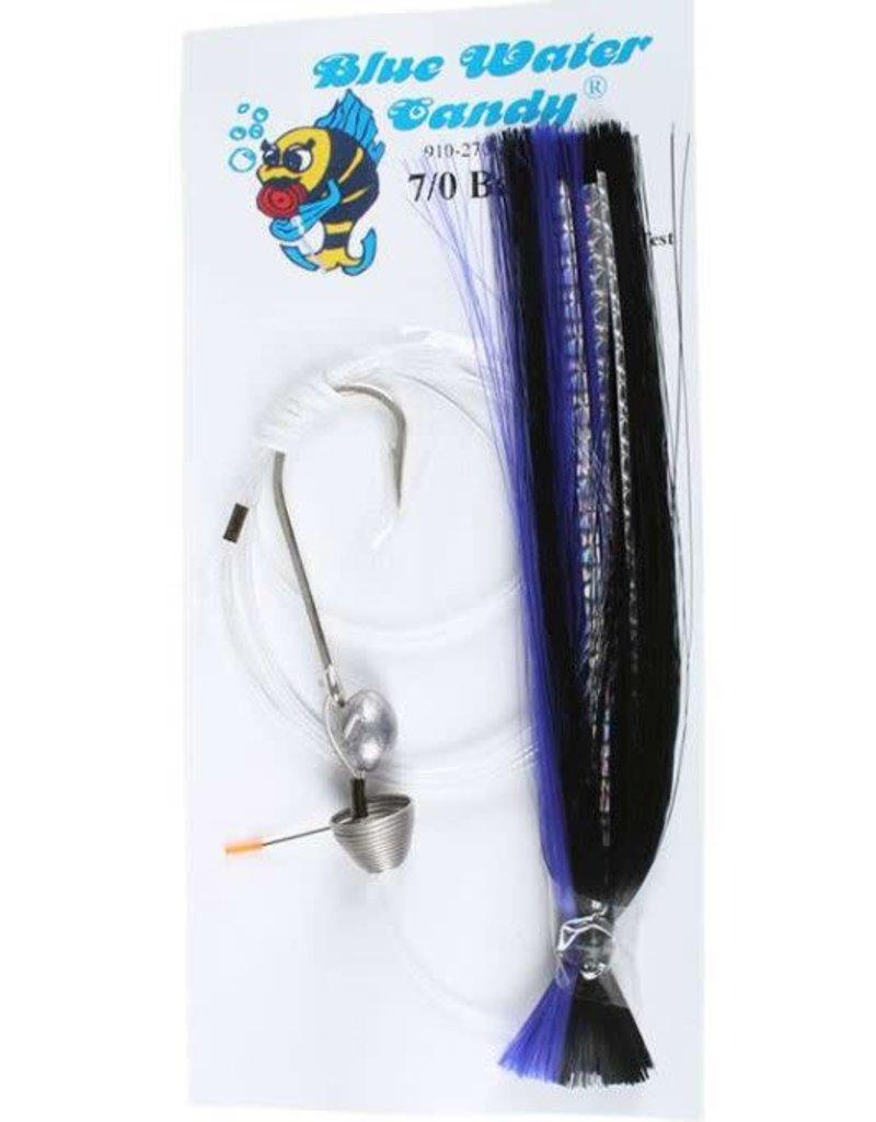 Blue Water Candy BWC 11265-0 7/0 Ballyhoo Rigged Purple/Black