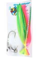 Blue Water Candy BWC 11079-3 8/0 Ballyhoo Rigged Pink/Green/Chartreuse