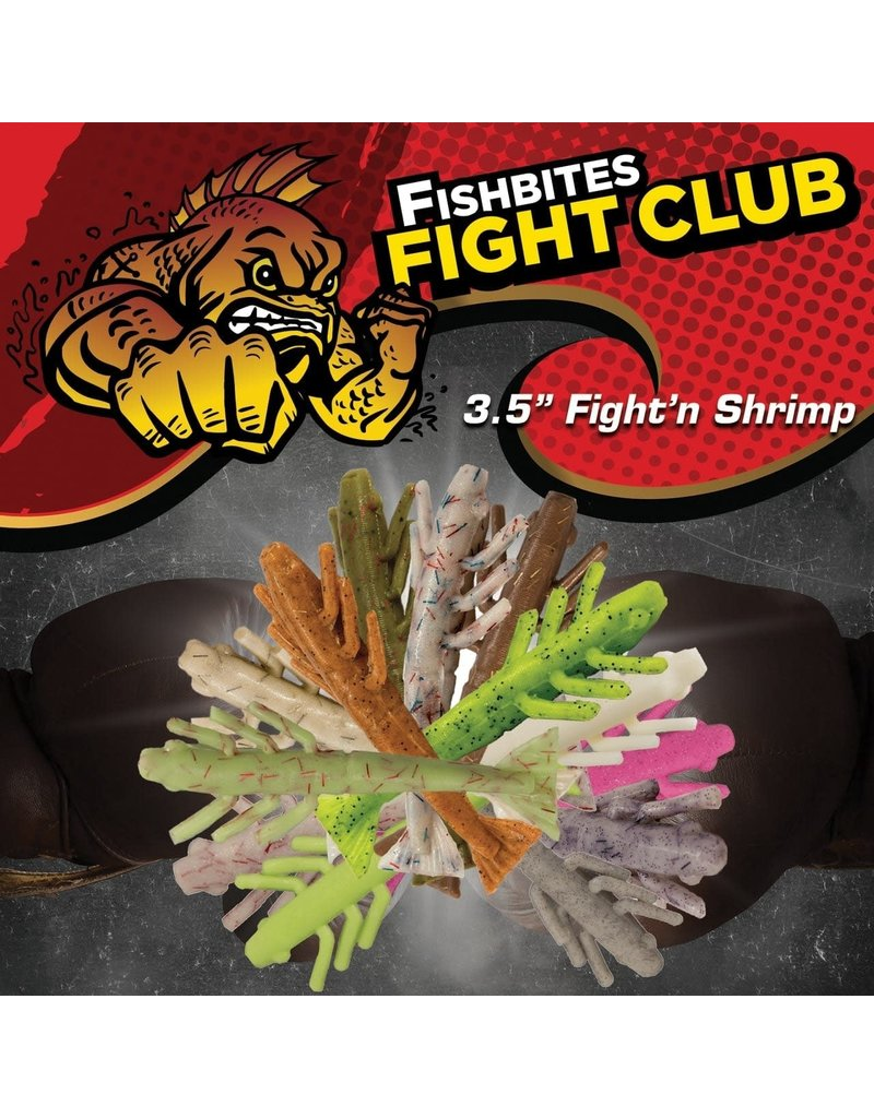 """Fish Bites (Carr Specialty Baits) Fish Bites Fight Club 3.5"""" Fight'n Shrimp Tap Out"""