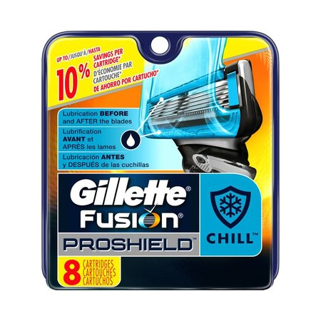 Gillette Fusion ProShield Chill Men's Razor Blade Refills - 8 Cartridges - Brand New