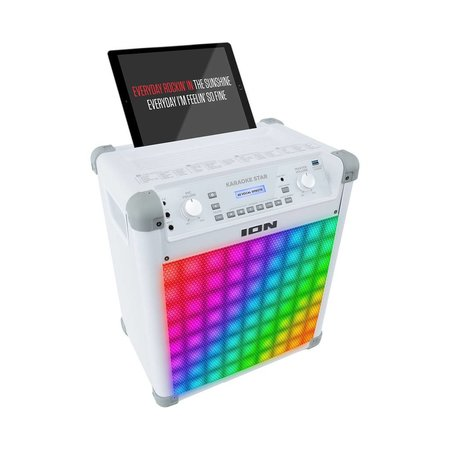 ION Audio Karaoke Star Bluetooth Speaker with Lights and Mic IPK2