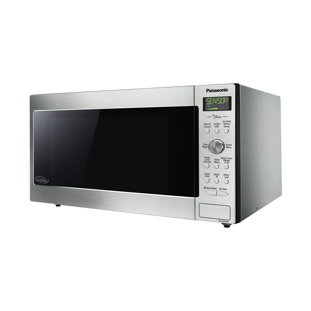 Panasonic 1.6 cu.ft. Stainless Steel Microwave with Cyclonic Wave Inverter Technology NN-SD755S