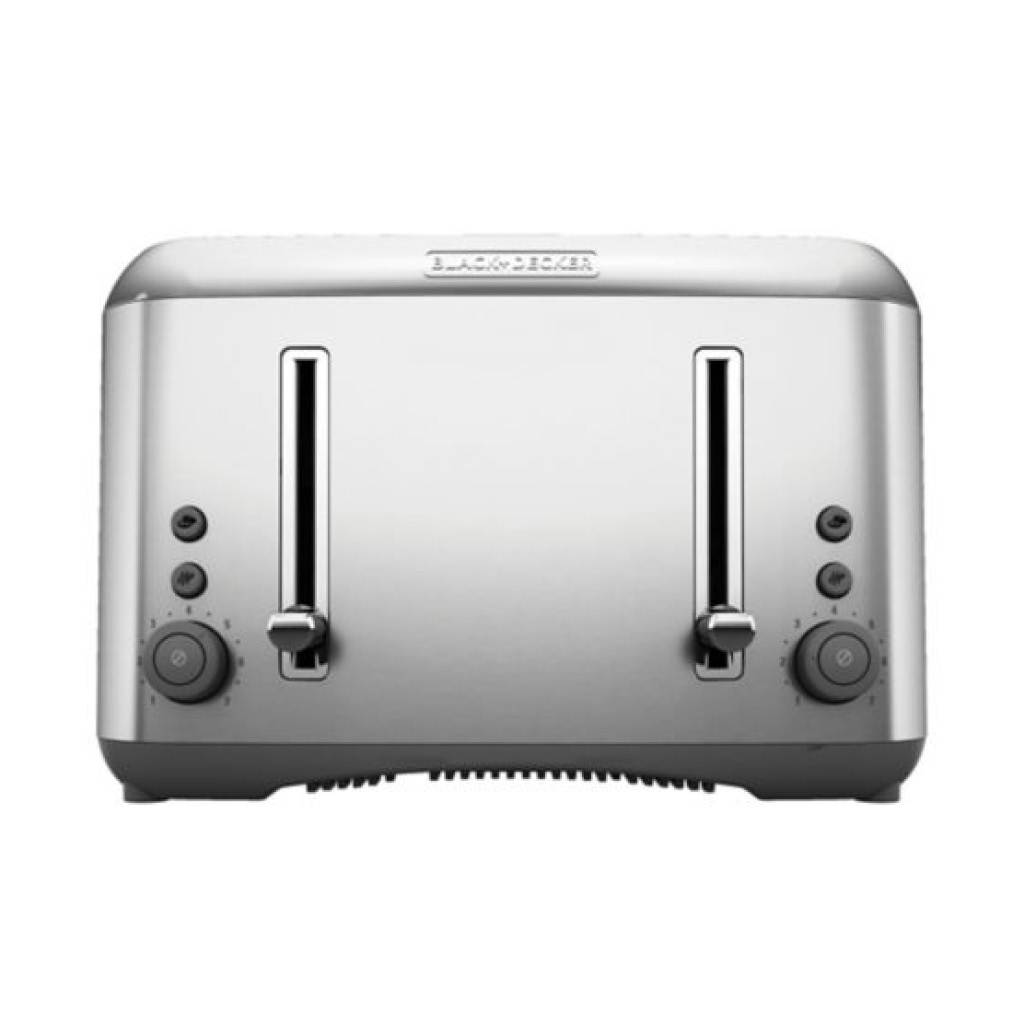 Black & Decker Brushed Stainless Steel 4 Slice Toaster TR6490SKT