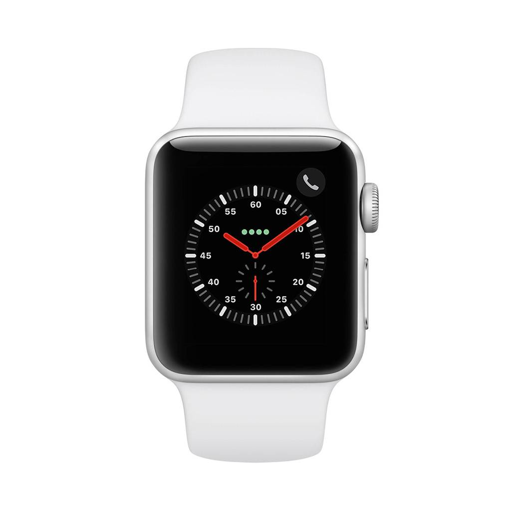 Watch Series 3 38mm GPS Silver with White Sport Band
