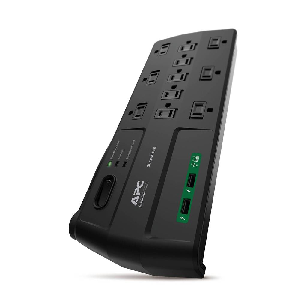 APC SurgeArrest P11U2 11-Outlet Surge Protector with USB